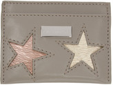 Stella McCartney Taupe Stars Card Holder