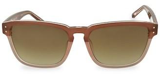 Linda Farrow 57MM Rectangular Sunglasses