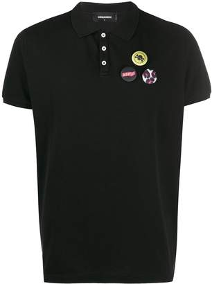 DSQUARED2 badge polo T-shirt