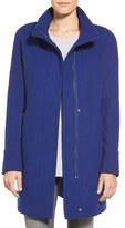 Ellen Tracy Petite Women's Wool Blend Stadium Coat