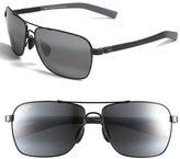 Maui Jim Men's 'Mauiflex - Freight Trains' Polarizedplus 62Mm Sunglasses - Gunmetal/ Black/ Neutral Grey