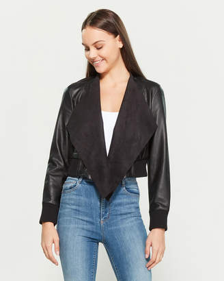 French Connection Abellana Faux Leather Open Jacket