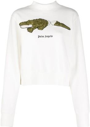 Palm Angels Crocodile Patch Sweatshirt