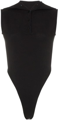 Y/Project polo collar cotton bodysuit
