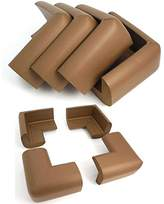 Equipment AKORD Baby Safety Corner Protectors for Desk Table, Nut Brown