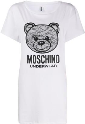 Moschino Teddy logo print nightie