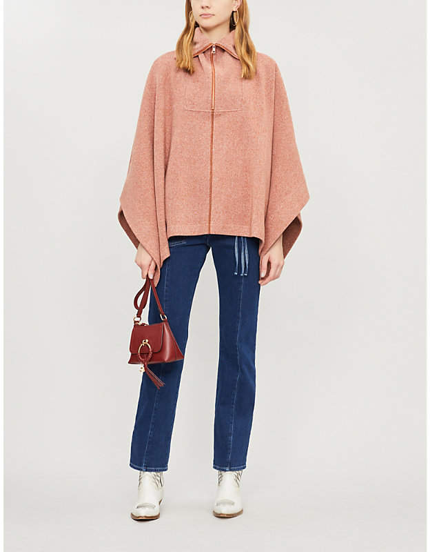 See by Chloe High-neck oversized cotton-blend cape