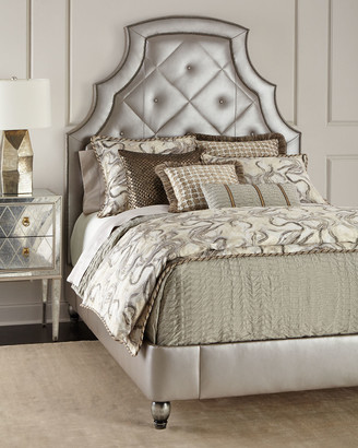 Old Hickory Tannery Bambi Quilted-Leather King Bed