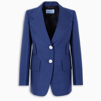 Prada Blue kid mohair blazer
