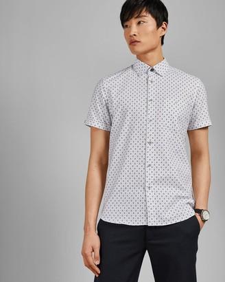 Ted Baker Small Dot Cotton Shirt