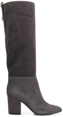 Sergio Rossi Knee Length Leather Boots