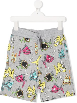Stella Mccartney Kids Fish-Print Shorts