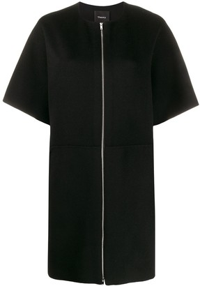 Theory front zip dress