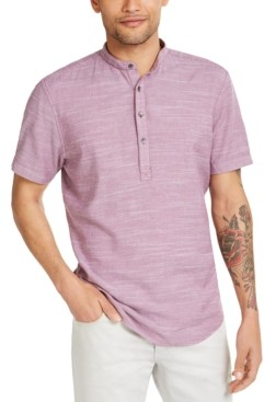 INC International Concepts Inc Men's Big & Tall Colored Cameron 2.0 Short Sleeve Shirt, Created for Macy's