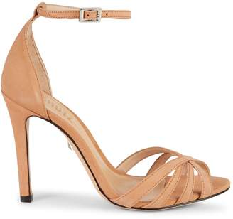 Schutz Kayoko Ankle-Strap Leather d'Orsay Sandals