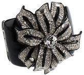 Kenneth Jay Lane Rhinetone Flower Cuff Bracelet
