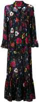 McQ by Alexander McQueen floral print v-neck dress - women - Polyester - 38