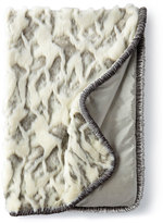 Dian Austin Couture Home Penthouse Suite Faux-Fur Throw with Shirred Velvet Edge