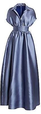 Lela Rose Women's Duchess Satin Collared Ball Gown