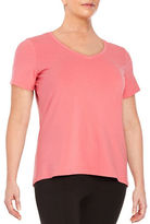 Lord & Taylor Plus Stretch-Cotton V-Neck Tee