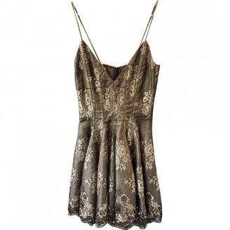 Maria Grachvogel Brown Silk Dress for Women Vintage