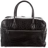 Lucien Pellat-Finet Crocodile Front-Zip Bag