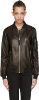 Mackage Black Leather Val Bomber Jacket