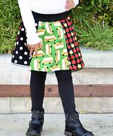 Beary Basics Green School Bus Patchwork Circle Skirt - Infant Toddler & Girls