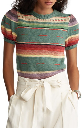 Polo Ralph Lauren Stripe Short Sleeve Sweater