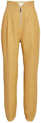 Divine Heritage High-Rise Linen Trousers