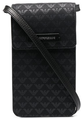 Emporio Armani Leather Crossbody Phone Case
