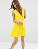 Asos Sleeveless V Neck Swing Dress