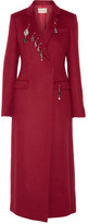 Christopher Kane Embellished Wool Coat - Claret