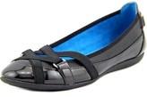 Adrienne Vittadini Muzi Round Toe Patent Leather Flats.