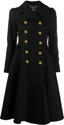 Elisabetta Franchi Double-Breasted Fitted Coat