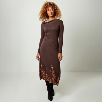 Joe Browns Engineered Print Maxi Dress with Long Sleeves