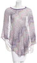 Missoni Printed Knit Poncho