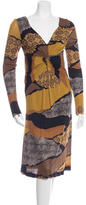 Etro Printed Long Sleeve Dress