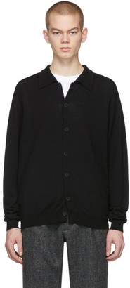 Second/Layer Black Wool B-Side Cardigan