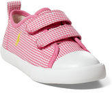 Ralph Lauren Little Kid Hamptyn Gingham Ez Sneaker