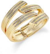 INC International Concepts Gold-Tone Pavé Crystal Crossed Cuff Bracelet, Created for Macy's