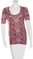 Isabel Marant Abstract Print Short Sleeve Top