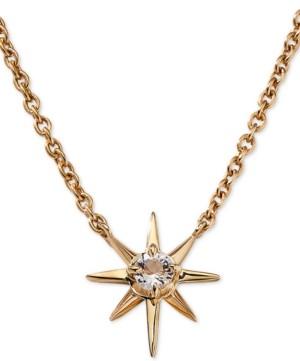 "AVA NADRI Gold-Tone Crystal Star Pendant Necklace, 16"" + 1"" extender"