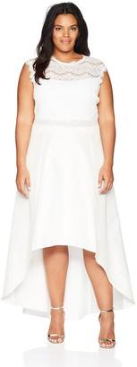 Marina Women's Size Plus Mock Two Piece Gown