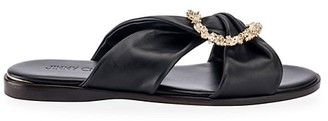 Jimmy Choo Neda Embellished Leather Slides