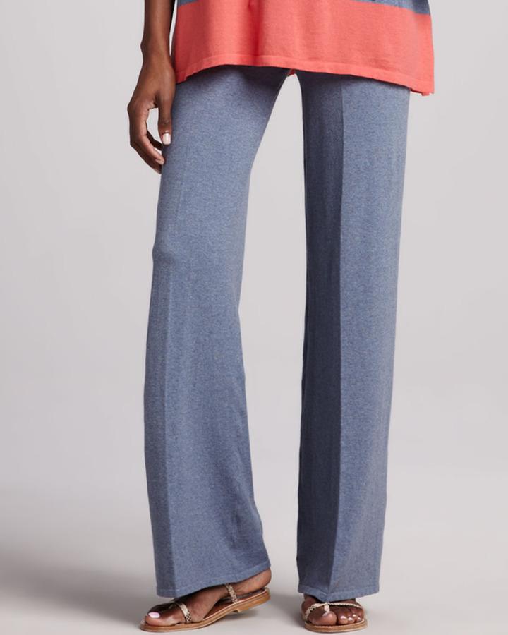 Minnie Rose Wide-Leg Stretch-Cotton Pants