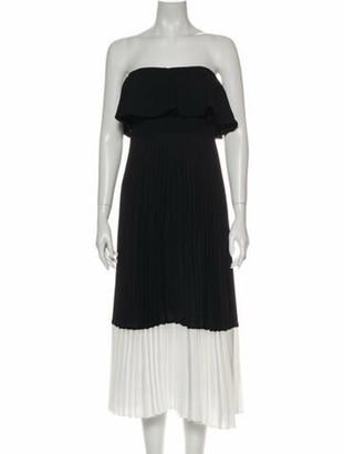 Aidan Mattox Colorblock Pattern Midi Length Dress w/ Tags Black