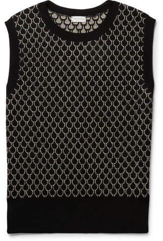 Dries Van Noten Slim-Fit Merino Wool-Blend Jacquard Sweater Vest