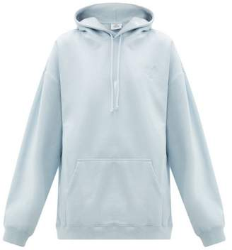 Vetements Goat Print Cotton Jersey Hooded Sweatshirt - Womens - Light Blue