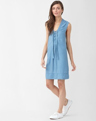 Splendid Light Wash Lace Up Dress